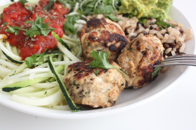 cilantro mushroom turkey meatballs 5